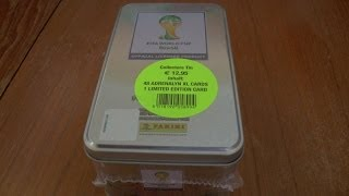 LAHM LIMITED EDITION ☆ COLLECTOR TIN ☆ Panini ADRENALYN XL WORLD CUP 2014 Trading Cards ☆ Opening
