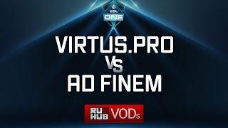 Virtus.pro vs Ad Finem, ESL One Genting Quals, game 1 [Mila, 4ce]