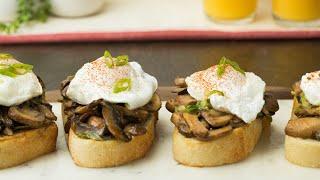 Creamy Mushroom Toasts by Tasty