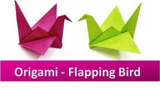 How to make an Origami Flapping Bird Video - YouTube