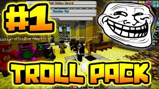 TROLLING THE BIGGEST YOUTUBERS!! | Troll Pack in Minecraft #1