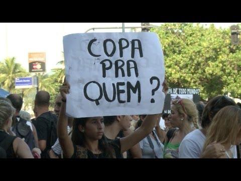 Manifestaciones contra el Mundial en Brasil