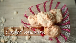Easy three-ingredient coconut macaroons