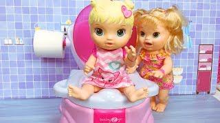Video Baby Alive Oyuncak Bebek tuvalette | Evcilik TV Bebek Videoları MP3, 3GP, MP4, WEBM, AVI, FLV November 2017
