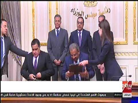 رئيس الوزراء يشهد توقيع بروتوكول تعاون مشترك بين هيئتي السكك الحديدية والبريد