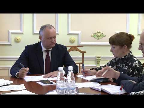 Президент Игорь Додон провел сегодня заключительное заседание по вопросу организации Молдо-российского экономического форума
