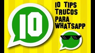 Hoy te mostramos los mejores 10 Trucos y Tips para Whatsapp. Son trucos que probablemente no conoces, así que ADELANTE!! dejame un buen LIKE. 10 TRUCOS PARA WHATSAPP QUE DESCONOCIAS ARTICULO COMPLETITO, RECIEN SALIDO DEL HORNO CLIC AQUI https://goo.gl/1m7W19Por aqui un resumen:Truco 1: Instala un Anti-espíaTruco 2: Fija tus conversaciones favoritasTruco 3: Ver Audio como Texto Truco 4: Letras de colores dentro de Whatsapp:  Blanca con Borde AzulTruco 5: Acceder a fotos y videos privados en WhatsappTruco 6: Deslizar para ver más fotosTruco 7: Enviar cualquier clase de archivo por WhatsappTruco 8: Compartir música en los estadosTruco 9: Tipografía con solo seleccionarTruco 10: Personalizar tus estadosAh y por aca encontre otros 20 Trucos y Tips que Desconocías de WhatsApp en el canal de AndroTube https://www.youtube.com/watch?v=sAq1uKGyRfIY por otro lado 5 Funciones Ocultas de Whatsapp Trucos que No Sabias https://www.youtube.com/watch?v=2qDEn2309_IENCUENTRA TODOS MIS TRUCOS PARA WHATSAPP EN LA SIGUIENTE LISTA DE REPRODUCCIÓN: https://www.youtube.com/playlist?list=PLN5_RTOYm0hMvYZ-w15Zuekhw1FrTog9N🌟🌟🌟🌟🌟DESCARGATE AHORA MISMO MI APLICACION FONTS - Letras para Whatsap: https://play.google.com/store/apps/details?id=com.logan20.fonts_letrasparawhatsapp🌟🌟🌟🌟🌟No olvides dejar 5 estrellas!!! GRACIAS😀😀😀😀😀--------------------------------------------------------------------------------------------------------💪¿QUIERES APOYAR EL CANAL Y GANARTE UN RECONOCIMIENTO EN MI PROXIMO VIDEO?https://www.paypal.me/elprofejorgeVIDEOS DESTACADOS:😀 TRUCOS PARA WHATSAPP: https://www.youtube.com/playlist?list=PLN5_RTOYm0hMvYZ-w15Zuekhw1FrTog9N█ Ver TV Gratis en Android TODOS LOS METODOS POSIBLES https://www.youtube.com/playlist?list=PLN5_RTOYm0hPOQzvMSqHNNs9iqU9Hs2hO█ Noticias y Trucos para tu Android https://www.youtube.com/playlist?list=PLN5_RTOYm0hNqX1fK4cram7_FsJaQ5dNk█ Todo para ver CINE GRATIS en casa (Android y PC) https://www.youtube.com/playlist?list=PLN5_RTOYm0hMexavkLV4OsuoalrXmHuf2__No olvides que APRENDER ES GRATIS!!....SUSCRIBETESegundo CANAL XD Tops https://www.youtube.com/channel/UCBLuxYUzxXcFrqPkAs4vxtgBlog http://vitrinets.blogspot.com/Twitter https://twitter.com/elprofejorge10Facebook https://www.facebook.com/El-Profe-Jorge-680463462036088/timeline/DISCLAIMER  I do not own the anime, music, artwork or the lyrics. All rights reserved to their respective owners!!! This video is not meant to infringe any of the copyrights. This is for promote.Copyright Disclaimer Title 17, US Code (Sections 107-118 of the copyright law, Act 1976):All media in this video is used for purpose of review & commentary under terms of fair use. All footage, & images used belong to their respective companies.Fair use is a use permitted by copyright statute that might otherwise be infringing.