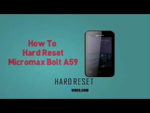 Как сделать reset micromax a36