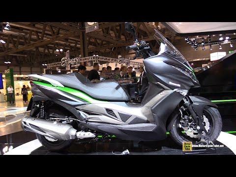 2015 Kawasaki J300 Maxi Scooter - Turnaround - 2014 EICMA Milano Motocycle Exhibition