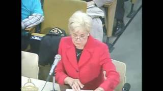 Oct 2009 Hearings On Expanded Gambling In Massachusetts - Senator Susan Tucker
