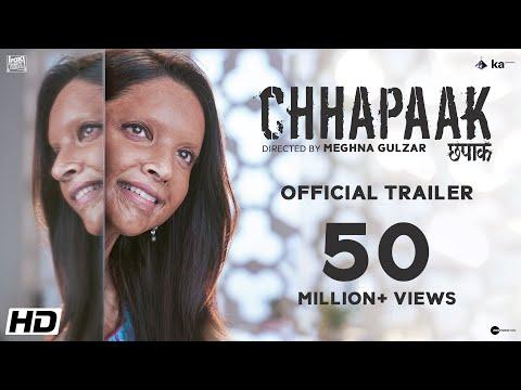 அசிட் வீச்சினால் பாதிக்கப்பட்ட பெண்ணின் கதை  Chhapaak   திரைப்பட Trailer  Chhapaak | Official Trailer | Deepika Padukone | Vikrant Massey | Meghna Gulzar