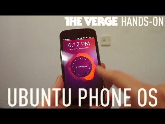 Ubuntu phone hands-on demo