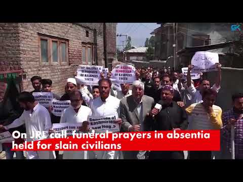 On JRL call, funeral prayers in absentia held for slain civilians