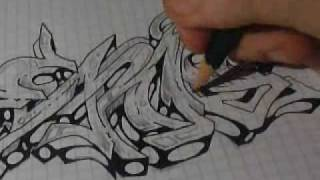 "Graffiti Sketch Drawing 3 - ""Eris"""