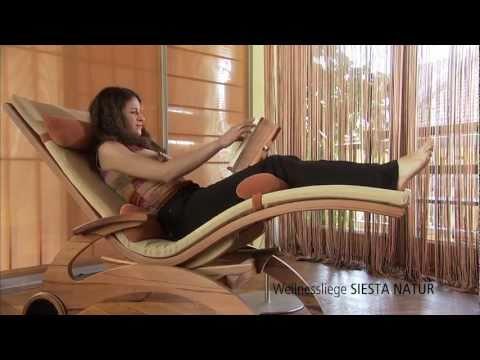 Wellnessliege SIESTA NATUR von First Class Holz (Saunaliege, Relaxliege)