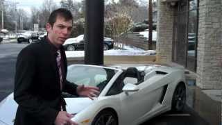 Ed Bolian's Test Drive Of The 2011 Lamborghini Gallardo LP560-4 Spyder At Lamborghini Atlanta.wmv