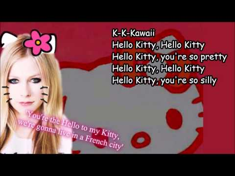Avril Lavigne - Hello Kitty [Lyrics] (видео)