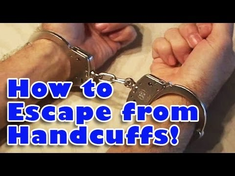 How to escape from a set of professional handcuffs