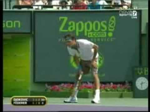 An anusual loss of temper from Federer