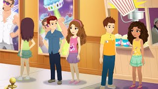 Valentine's Day LEGO® Friends special. Andrea meets Daniel, Olivia and Jacob at the Cupcake Café. Suddenly everything around Andrea seems a little TOO friend...