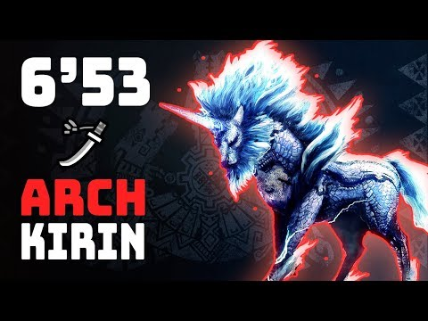 MHW | Arch Tempered Kirin (Long Sword) 6'53 - 9★ Event Quest (A Whisper of White Mane)
