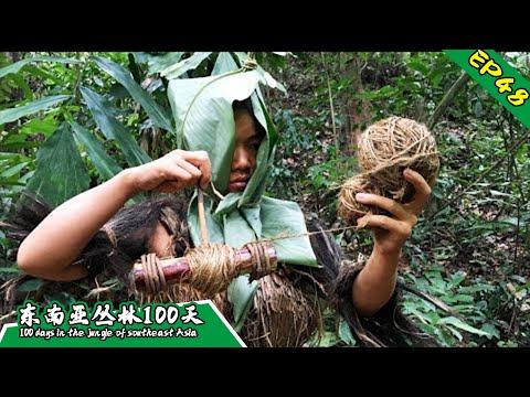 EP48 徒手打造纺织工具,效率大大提高丨挑战丛林生存100天 DAY33