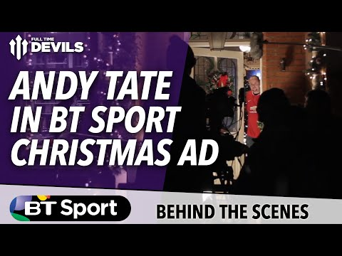 Ad - We caught up with our pal Andy Tate on the shoot for one of BT Sport's Christmas ads. See how his first TV shoot went and hear him talk about how his life has changed since becoming an internet...