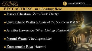 Academy Awards 2013 Oscar Winners - Best Actress