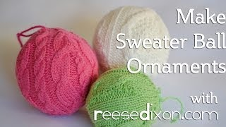 DIY Christmas - Sweater Ball Ornament - YouTube