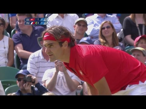 Tennis Men's Singles Second Round – SUI v FRA – Replay — London 2012 Olympic Games