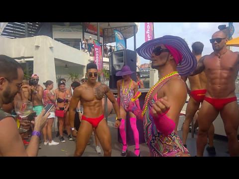 Maspalomas Gay Pride 2017 Gogo Dancers (видео)