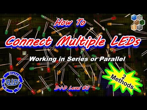 How to Connect Multiple LEDs Together - Tutorial - make a string of lights