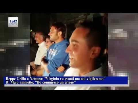 CAOS ROMA: BEPPE GRILLO E LUIGI DI MAIO PARLANO DAL PALCO DI NETTUNO