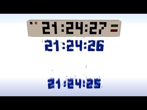 Как сделать аналоговые часы в майнкрафте