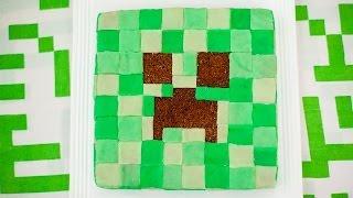 Minecraft Creeper taart