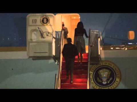 obama - President Obama and his family departed for Ireland ahead of G8 summit. He is scheduled to attend a two-day summit at a resort with leaders from Britain, Ger...