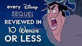 Video Every Bad Disney Sequel Reviewed in 10 Words or Less! MP3, 3GP, MP4, WEBM, AVI, FLV Agustus 2018