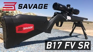 Check out the full review for the Savage Arms B17 FV SR bolt action rifle in .17 HMR on Guns.com - http://www.guns.com/review/gun-review-savage-b17-fv-sr-bolt-action-rifle-in-17-hmr-video/