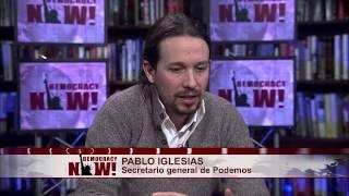 ¿Es Podemos el otro Syriza? Entrevista con Pablo Iglesias en Democracy Now