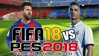 FIFA 18 vs PES 2018 | E3 Trailer Gameplay