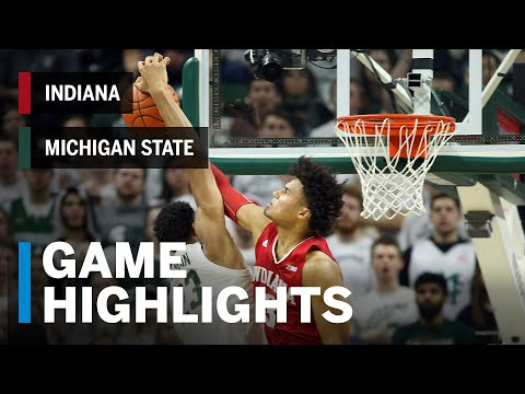 Highlights: Indiana at Michigan State | Big Ten Basketball