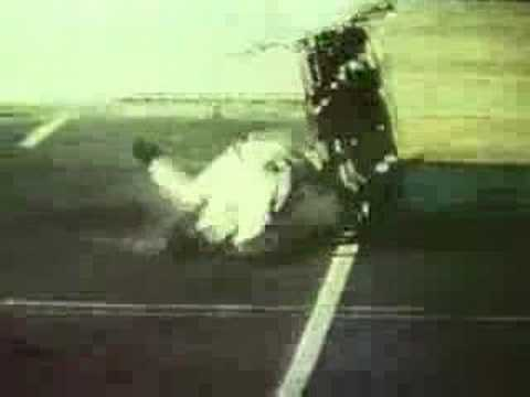 Classic clip of Evel Knievel's crash at Caesar's Palace