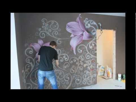 Как сделать рисунок на стене своими руками