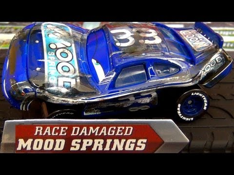 Cars race damaged mood springs diecast disney racer from final lap