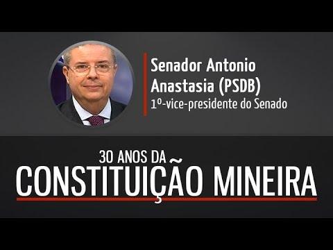 Senador Anastasia fala sobre os 30 anos da Constituição Mineira