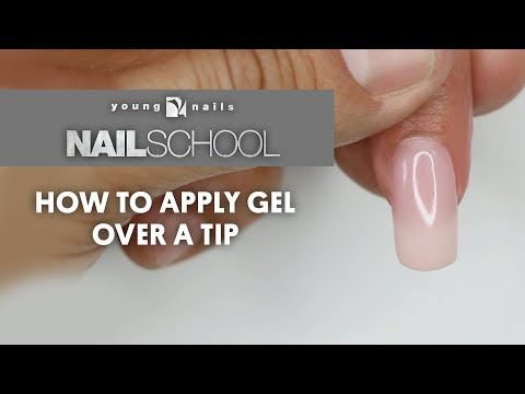 YN NAIL SCHOOL - HOW TO APPLY GEL OVER A TIP
