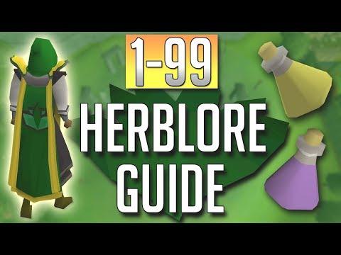 OSRS In Depth 1 99 HERBLORE Guide 2018 Best Methods