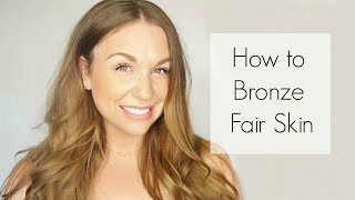 "Make sure to give this video a Like or Comment!  And please Subscribe!!!How to bronze fair skin! Get sun kissed skin for a fair or pale complexion. Choosing the right bronzer and using the right technique will give fair or pale skin the most natural summer glow. Watch this short tutorial and see how easy it is!  First you must start with the right color for your skin tone. Most fair or pale complexions need a light brown or golden bronzer. Stay away from orange or red toned bronzer, and know that they bronzers typically get more red and orange the deeper they get. A few good options are MAC studio sculpt bronzing powder or Hoola bronzer by benefit.  A great tip is to choose a pressed powder that matches your skin tone but that is 2-3 shades darker than your skin! This gives a soft natural color to your fair complexion.Next it is important to use proper technique and placement of your bronzer. First, ""push"" the brush into the bronzer to get more product in the brush. Place the product on your face where you want the most product which is usually on your forehead. Then apply the bronzer to the sun exposed areas or highest parts of your face. Make sure you apply the bronzer to your chest and shoulders if you are wearing a tank top!!!!Thanks so much for checking out Renee's way! Please find and follow me on social media!"