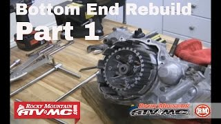 8. Motorcycle Bottom End Rebuild Part 1 (of 3) Engine Teardown
