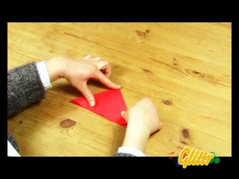 Papierblumen basteln - Einfache Bastelanleitung: Origami